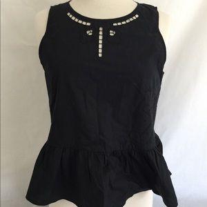 NWT Madewell Black Flare Hem Size M Medium Top